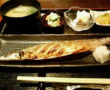 魚定食(さんま)