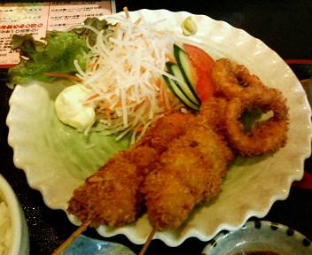 日替わり定食(鶏串カツ)