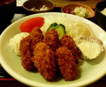 日替わり定食(カキフライ定食)