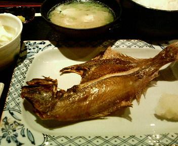 魚定食(宗八カレイ)